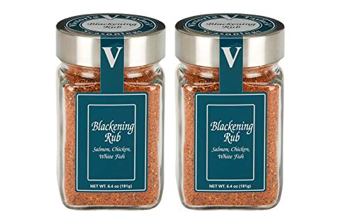 Blackening Rub - 2 PACK - For Salmon, Chicken, or Whitefish. Two Jar Pack. VICTORIA TAYLOR's by VICTORIA GOURMET.