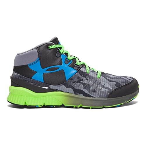 Under Armour chicos 'grado escuela UA Overdrive Mid grano Zapatillas de running Gris-Negro