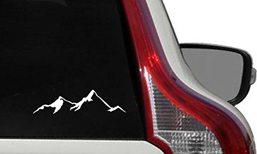 Mountain View Version 4 Car Vinyl Sticker Decal Bumper Sticker for Auto Cars Trucks Windshield Custom Walls Windows Ipad MacBook Laptop Home and More (White) (Best Car Vinyl Stickers)