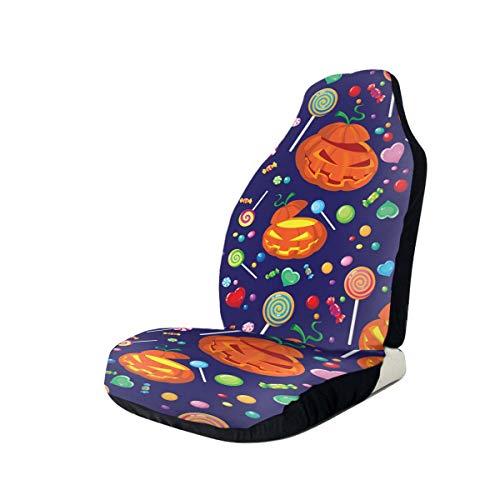 Car Seat Covers Halloween Candy Elastic Full Set Car Seat Protectors Universal Car Seat Accessories,1 PCS
