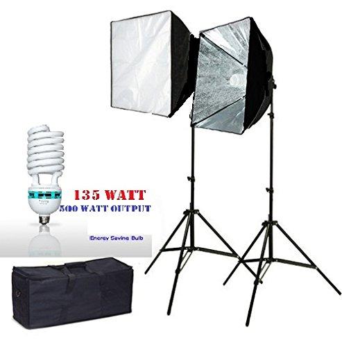CanadianStudio Pro 1000W Photography Softbox Light Lighting Kit Photo Equipment Soft Studio Light Softbox 20'X28', VL-5070c