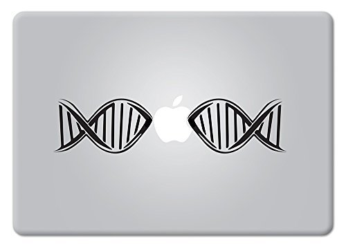 DNA Biology Decal Lab Microscopy Research Nanotech Analytical Helix Biotech Bioscience Apple Macbook Laptop Decal Vinyl Sticker Apple Mac Air Pro Retina