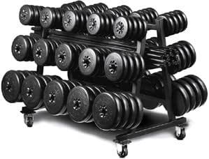 York Barbell Aerobic Weight Set Club Pack (Includes Rack)