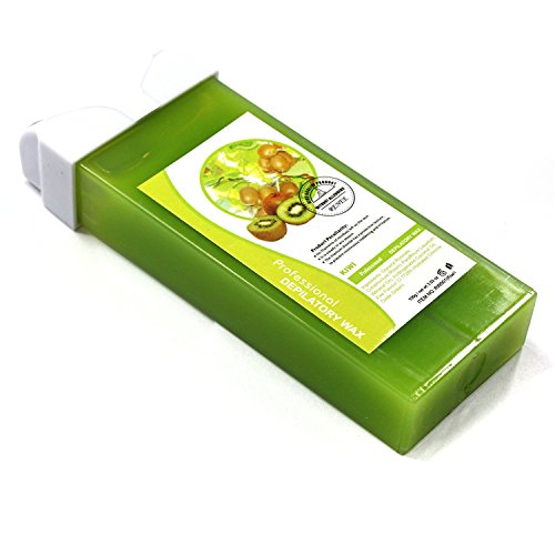 Kiwi Fruit Taste Professional Roll-on Refillable Wax Carriage Waxing Roll Hair Removal Cream Supplier for Hot Depilatory Heater Warmer 100g