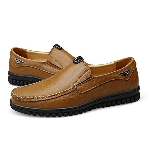 Mocassini comode Liscia da Scarpe Casuale Loafers Insun cachi Uomo 7dqgAqw