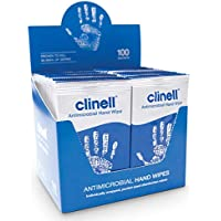 Clinell Antibacterial Hand Wipes - Box of 100 Sachets