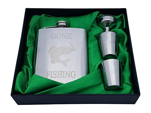 Gone Fishing Flask Gift Set (Gone Fishing Gift)