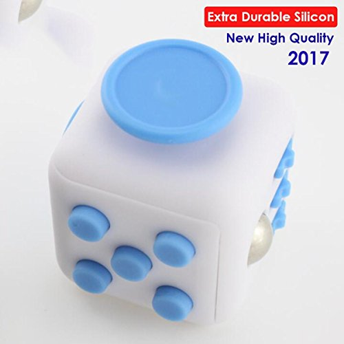 New Version 2017 - Anti Stress Cube Fidget Toys for Adults / Stress and Anxiety Relief Reducer Toys to Focus/ Attention Relieves Stress Toy for Gifts, ADHD, Kids, Children, Autism