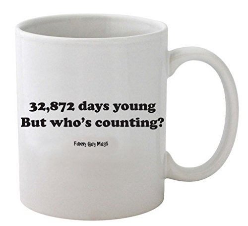 32,872 Days Young 90th Birthday Coffee Mug