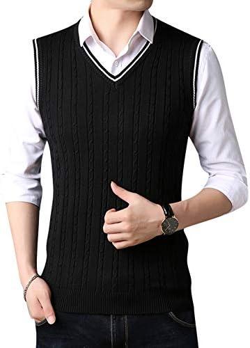 [FOMANSH] ニットベスト メンズ 大きいサイズ Vネック カジュアル ビジネス セーター ベスト 春秋 冬