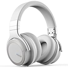 Active Noise Cancelling Bluetooth Headphones [2018 Updated] Meidong E7 PRO Wireless Headphones Over Ear 30H Playtime Hi-Fi Stereo Headsets with Microphone and Carring Case (White)