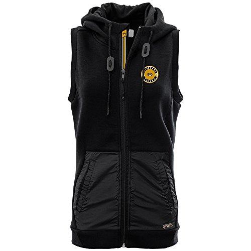 Levelwear LEY9R NCAA Missouri Tigers Women's Iris Banner Stripe Full Zip Hooded Vest, Large, Black