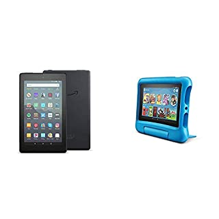 Fire 7 Family Pack - Fire 7 Tablet (16GB, Black) + Fire 7 Kids Edition Tablet (16GB, Blue)