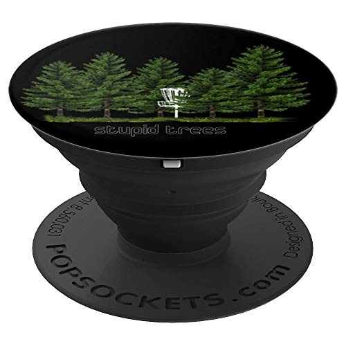 Stupid Trees With 5 Trees And Chain Basket Golf Disc Grip - PopSockets Grip and Stand for Phones and ()