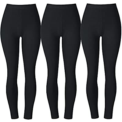 BAOMOSI Women's Popular Basic Solid Spandex Full Length Ultra Soft Workout Leggings Plus Size (S - XXL)