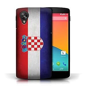 STUFF4 Phone Case / Cover for LG Google Nexus 5/D821 / Croatia/Croatian Design / Flags Collection