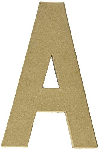Craft Ped Paper CPL1006251AK Mache Letter A Kraft 8quot