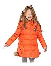 Tortor 1Bacha Kid Girls' Faux Fur Hooded Winter Down Coat Long Jacket