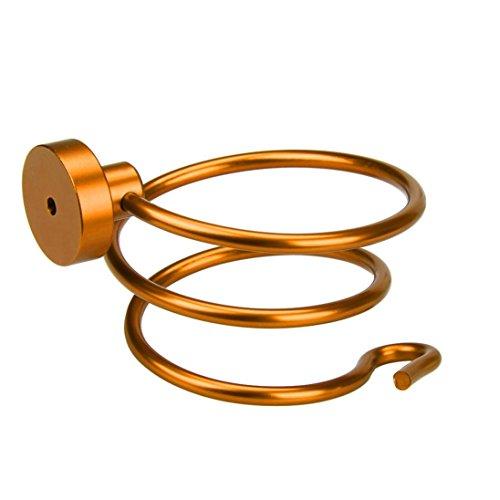(YJYdada Wall Hair Dryer Rack Space Aluminum Bathroom Wall Holder Shelf Storage (gold))