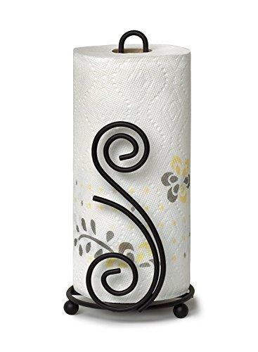 Spectrum Diversified Scroll DECO Paper Towel Holder, - Towel Holder Paper Black