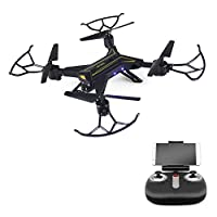Zlimio Foldable WiFi FPV Drone RC Quadcopter Helicopter with 720P HD Camera Headless Mode and One Key Return Home, Color Black from Zlimio