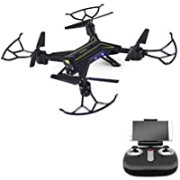 Zlimio Foldable WiFi FPV Drone RC Quadcopter Helicopter with 720P HD Camera Headless Mode and One Key Return Home, Color Black