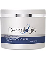 Glycolic Acid 15% Cream- Natural Anti Aging Exfoliator to Smooth Away Fine Lines & Wrinkles & Improve a Dull Looking Complexion. Includes Alpha Hydroxy Acids & Green Tea Moisturizer for Face & Body.