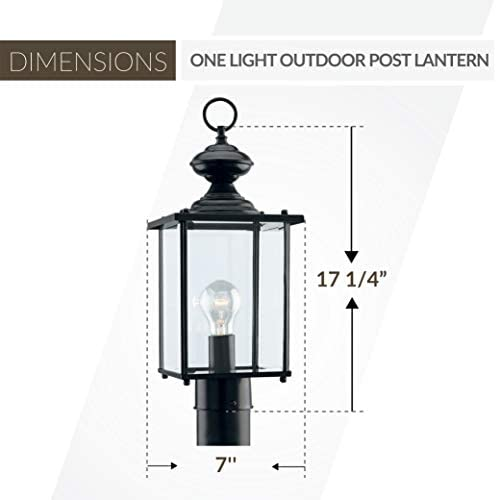 Sea Gull Lighting 2322183 Jamestowne Transitional One Outdoor Light Post Outside Fixture Small Outdoor Post Lights Amazon Com
