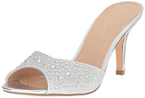 Mesh Argent Femme Pleaser Glitter Escarpins 01 Fabric Lucy Slv IfqO0