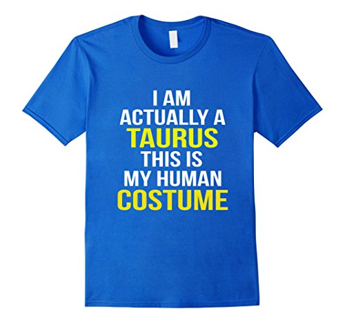 Mens This Is My Human Costume TAURUS Halloween tshirt XL Royal (Adult Taurus Costumes)