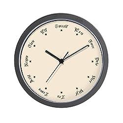 CafePress Quaint Wall Clock with Dutch Numbers Unique Decorative 10 Wall Clock