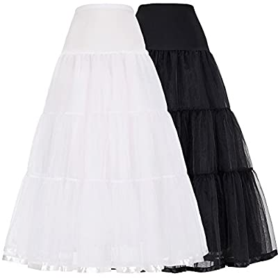 GRACE KARIN Women's Long Petticoats Bridal Slips Crinoline-Assorted Colors