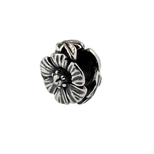 Authentic Trollbeads Sterling Silver 12304 Rose Trollbeads Rose