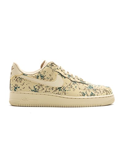 NIKE Mens Air Force 1 '07 Low Camo Shoes Team Gold/Golden Beige 823511-700 Size 10.5