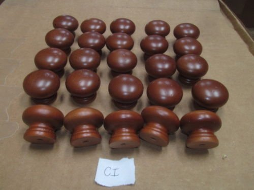 Twenty-Five (25) New Factory Maple Finished KNOBS Various Colors 1 1/4'' X 1 1/2'' (Cinnamon CI) …