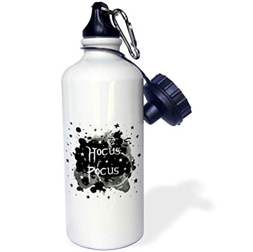 3dRose InspirationzStore - Occasions - Hocus Pocus - Spooky Halloween Saying Witchy Witches Spell - Witch Fun - Flip Straw 21oz Water Bottle (wb_317313_2)