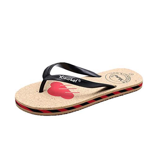 (〓COOlCCI〓Comfortable Mens Flip Flops,Arch Support Sandals for Beach, Outdoor & Indoor Shoes Comfort Slippers)
