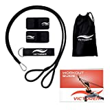 Victorem Throwing Mobility Bands – Bonus Carrying Bag, Connecting Strap and Workout Guide – Baseball, Softball, Exercise Resistance J-Bands – Arm Strength, Conditioning, Warmup - PT