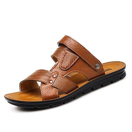 Primavera ed estate Nuovi modelli sandali Scarpe da spiaggia Suture manualmente Scarpe da ginnastica nuovissime giovani di tendenza, Brown, UK = 9.5, EU = 44