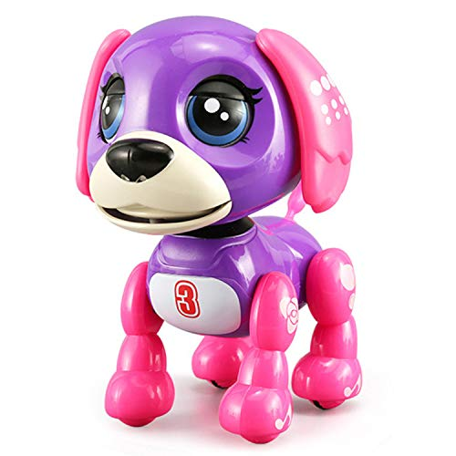 SoundOriginal Electronic Intelligent Pocket Pet Dog Interactive Puppy - Robot Dog Popular Toys Smart Pet Toys Kids Boy and Girl Gifts Girls Toys for Age 3 4 5 6 7 8 9 10 Year Old (Dark Purple) (Best Pet For 11 Year Old Boy)