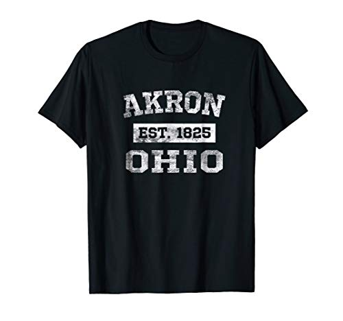 Akron Ohio T Shirt Est. 1825 Distressed]()
