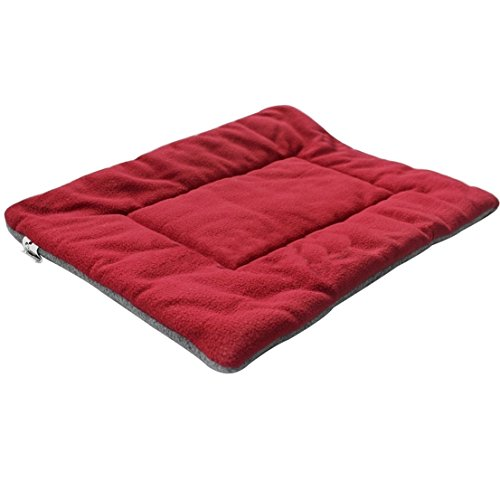 1Pcs Culminate Popular Pet Bed Sleep Mat Size M Mattress Rug Dog Plush Kennel Color Wine Red