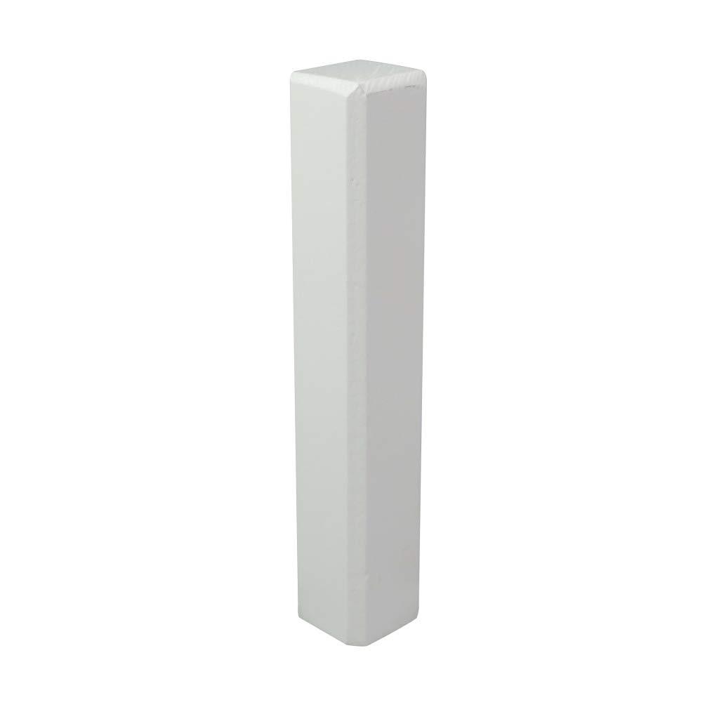 Trevendo/® Eckturm 4er Pack Eckstab Innenecke E4 22 x 22 x 81 mm Au/ßenecke Leisten Verbinder Echtholz wei/ß lackiert