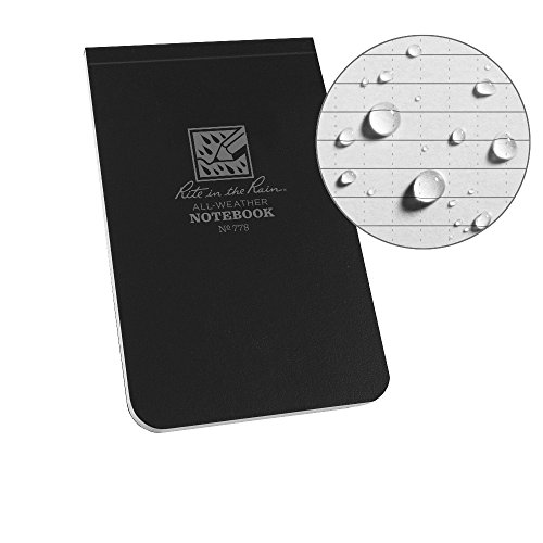 Rite in the Rain Weatherproof Top Bound Notebook, 3 1/4