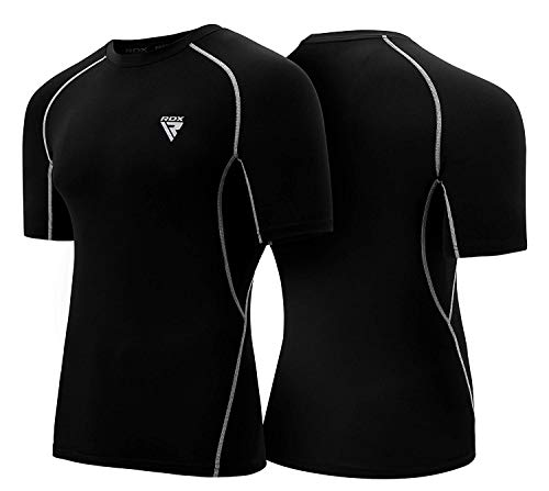 RDX Rash Guard MMA Compression Base Layer Training Martial Arts Thermal Sauna Suit Shirt Vest Sweatshirts ()