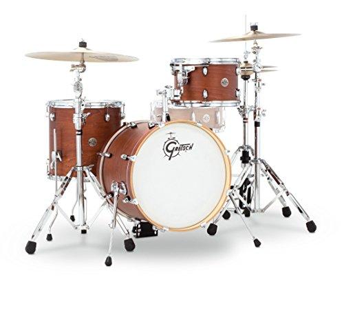 - Gretsch Drums CT1-J483-SWG Catalina Club 3 Piece Drum Shell Pack, Satin Walnut Glaze