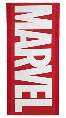 Jay Franco Marvel Red Logo Kids Bath/Pool/Beach Towel - Super Soft & Absorbent Fade Resistant Cotton Towel, Measures 28