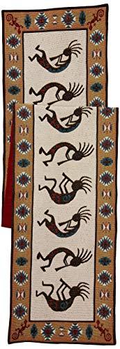 DII Kokopelli Southwestern-Inspired Tapestry Table Runner, Multi
