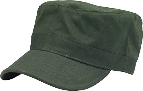 KBK-1464 OLV XL Cadet Army Cap Basic Everyday Military Style Hat Olive -