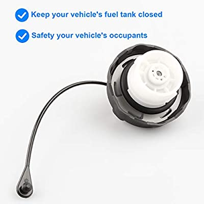 Allmotorparts Gas Cap, Fuel Cap Replace 52100552AG, 5210 0552AG, 52030387AB, 52030387AA Compatible with 2003-2020 Jeep Wrangler JK, 2003-2006 Wrangler TJ: Automotive